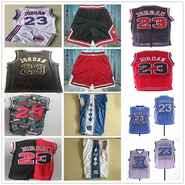 NCAA North Carolina Tar Heels 23 Michael Shorts Space Jam Tune Squad Movie Basketball Jerseys Sets