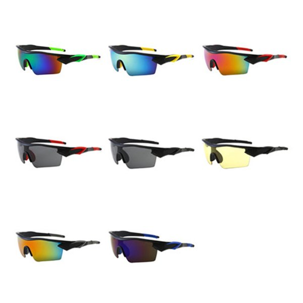 fashion men's semi-rimless sunglasses outdoor sports cycling sun glasses goggles anti-uv spectacles dust-proof eyeglasses soft nose pad a++ - from $5.12