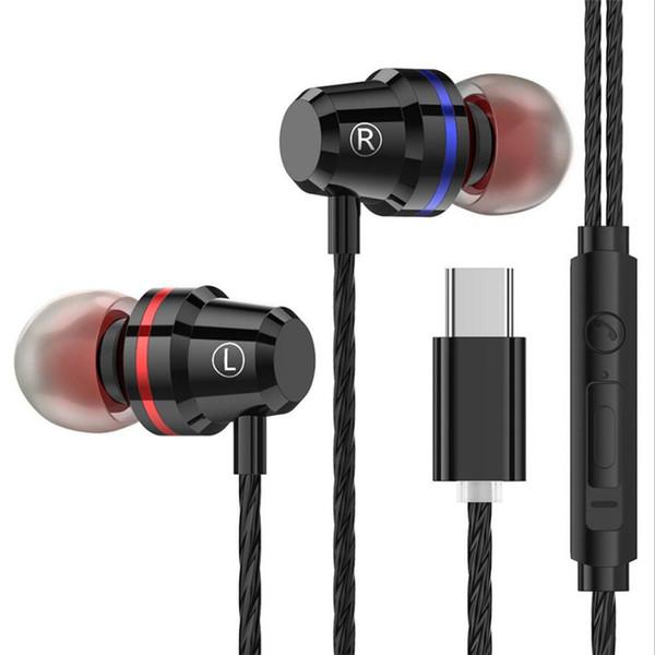 Hochwertige Metall Typ C Ohrhörer TypeC Kopfhörer für Auriculares Xiaomi im Ohr Kopfhörer mit Mikrofon