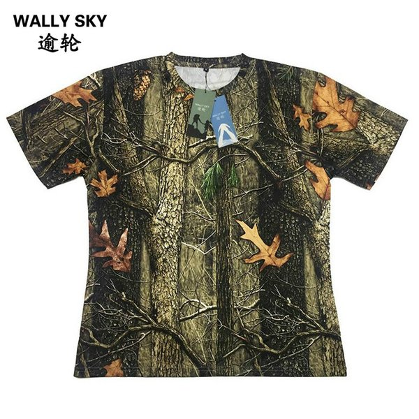 Men CoolMax Bionic Hunting T-shirt Man Camouflage T-shirt Camping Short Sleeve Tactical Shirt Men's Summer Tops Cool