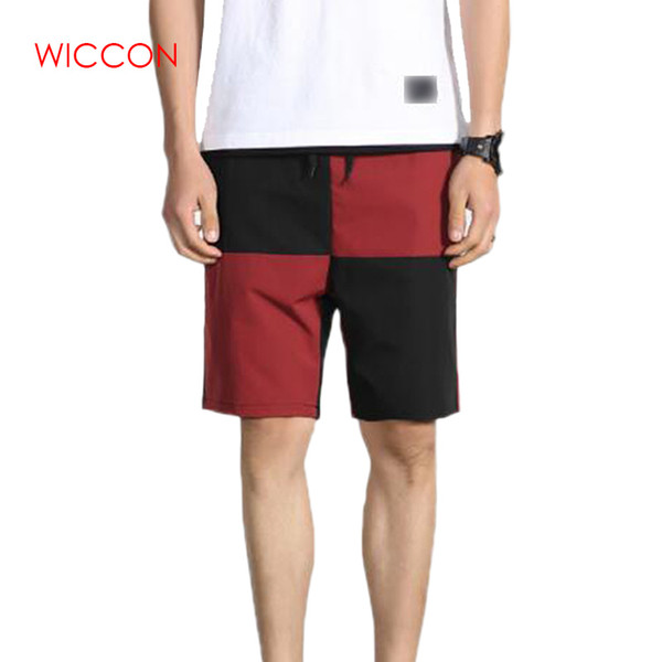 Men's Shorts New 2019 Cotton Shorts Men Summer Solid Breathable Elastic Waist Casual Man Male Patchwork Clothing