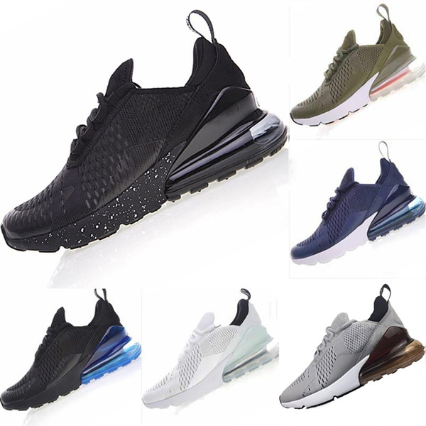 Compre Nike Air Max 270 Shoes For Men Hombres Zapatos Negro Triple Blanco Cojín Zapatillas De Deporte Para Hombre Moda Atletismo Entrenadores