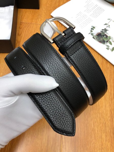 New Style Brand Men Classic Casual Square Buckle Designer Belts Black Fashion Simple Women Belt Gold and Sliver Needle with Original Box