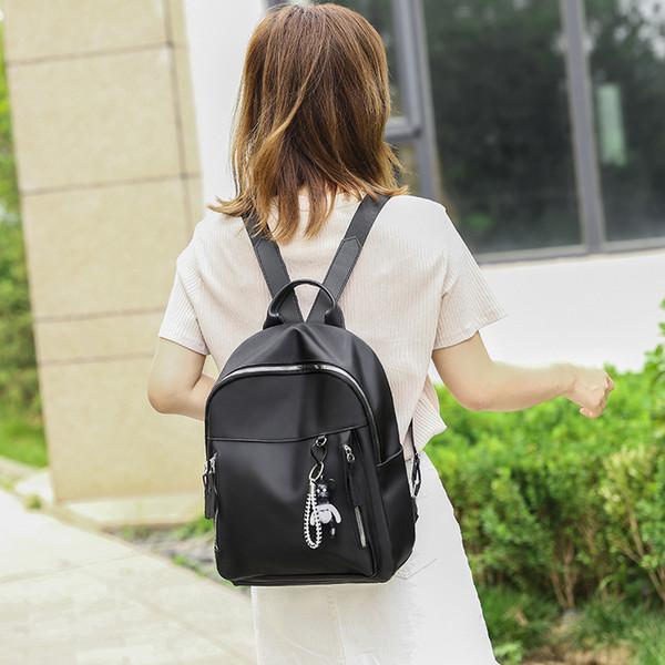 Оптовых Лучшего высокого качество нового корейских женщин рюкзак Медведь Подвеска школа сумка нейлон водонепроницаемой продажа путешествие рюкзак Горячей повседневные сумки B101878Y