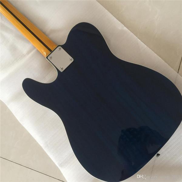 Spedizione gratuita TL CHITARRE Chrome Hardware Costom chitarra elettrica corpo blu tastiera in palissandro