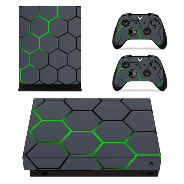 Leaf Skull Camo Vinyl Skin Sticker for Xbox one X Console and 2 Controller Gaming Decal
