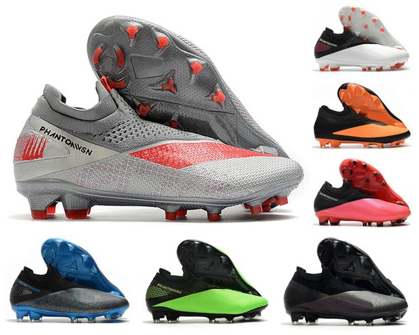 top popular Phantom VSN Vision II Elite DF FG 2 2S Neighborhood Pack Future DNA Mens High Ankle Soccer Cleats Football Shoes Size US6.5-11 2020