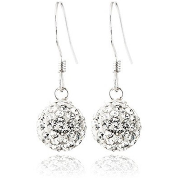 Wholesale Earrings Ball Sterling Silver Dangle Earrings for Women Hooked Earrings free Box