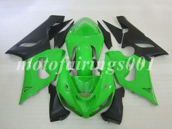 4Gifts Бесплатный Пользовательский Новый ABS Кузов набор обтекателей Для KAWASAKI Ninja ZX-6R 05 06 ZX-636 ZX636 ZX6R 2005 2006 ZX 636 6R зеленый черный