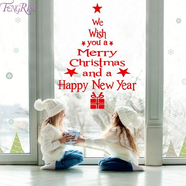 Wall Window Christmas Stickers Christmas Decoration For Home 2019 Merry Christmas Ornaments Xmas Happy New Year 2020 Pictures Of Christmas Decorations