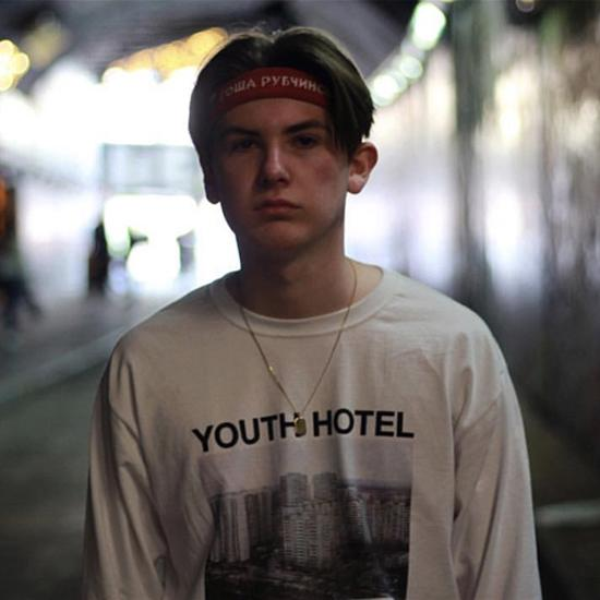 Гоша Рубчинский футболка с длинным рукавом молодежный отель печатный Белый тройник мужчины хип-хоп скейтборд топы O32C тройники HOH0324