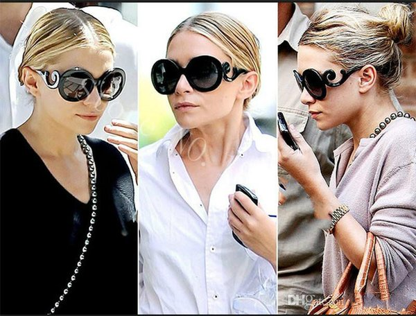 Free ship Luxury logo brand SPR27NS sunglasses round shape fashion big face retro vintage summer style women brand designer