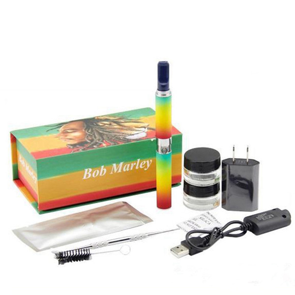Bob Marley Box Kit Vaporizador de hierbas secas Vape Pen Wax Dry Herb Atomizer 3 en 1 Kit con batería Envío gratis DRY1