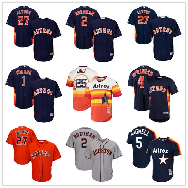 pretty nice cd0db f31e3 2019 Houston Custom Astros Jerseys 2 Alex Bregman Jose Altuve Zack Greinke  Justin Verlander George Springer Yuli Gurriel Carlos Correa Nolan Ryan From  ...