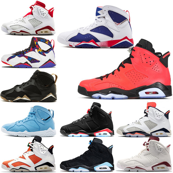 Hot Sale 6s 7s Basketball Shoes Men Women 6 Angry bull 7 Olympics Tinker Sport Blue Oreo high Sweater UNC Man Athletics Sneakers