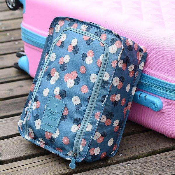 Bolsa de almacenamiento de zapatos de viaje portátil de doble capa Bolsas de mano de zapatos de alta capacidad Cajas de impresión Nueva llegada 3 2yl L1
