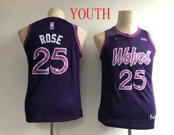 2019 Youth Minnesota Timberwolves 25 Rose Fanatics Branded Pink