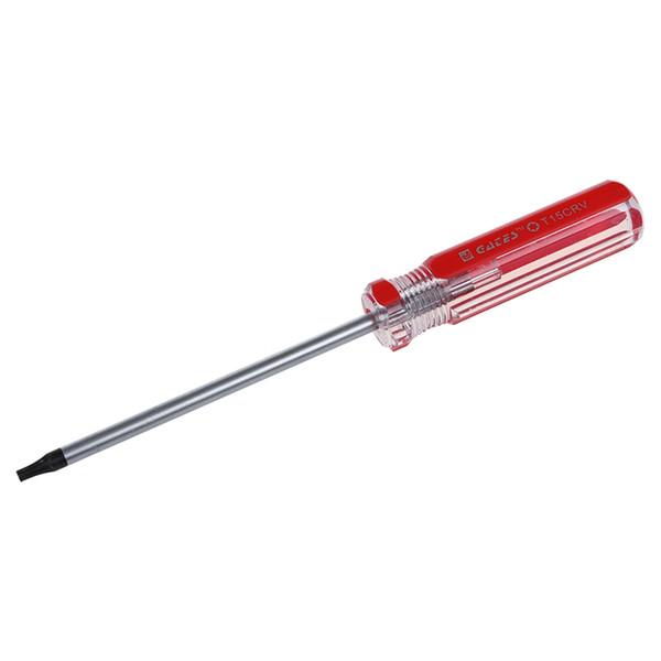 Kırmızı Temizle Plastik Saplı T15 Güvenlik Torx Tornavida Aracı