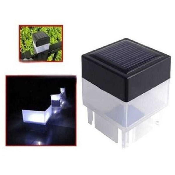 top popular 2x2 Square Solar Post Cap Light For Wrought Iron Fencing Front Yard and Backyards Gate Landscaping Residential 2021