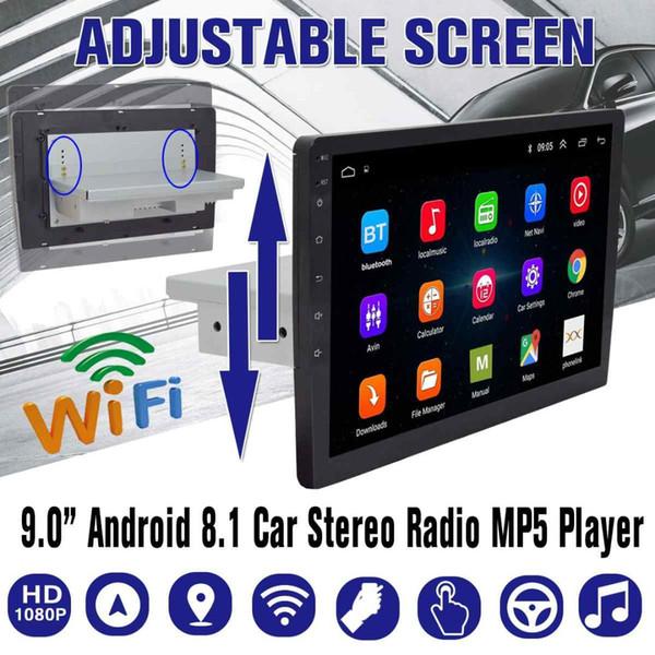 راديو السيارة العالمي للسيارة أندرويد 8.1 1G + 16G الوسائط المتعددة WIFI بلوتوث مع ما يصل إلى أسفل شاشة قابلة للتعديل للتدوير لاعب 8 كور سيارة دي في دي