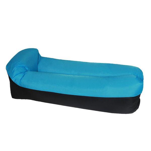 Açık Taşınabilir Şişme Kanepe Yastık Düz Şişme Yatak 640g / 1.4lb Mor, Pembe, Turuncu, Yeşil, Mavi