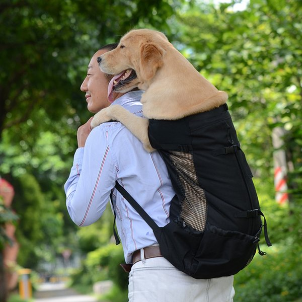 Pet Backpack Puppy Hands Free Shopping Dog Cat Carrier Bag Hiking Supplies Outdoor Travel Mesh Washable Riding Adjustable