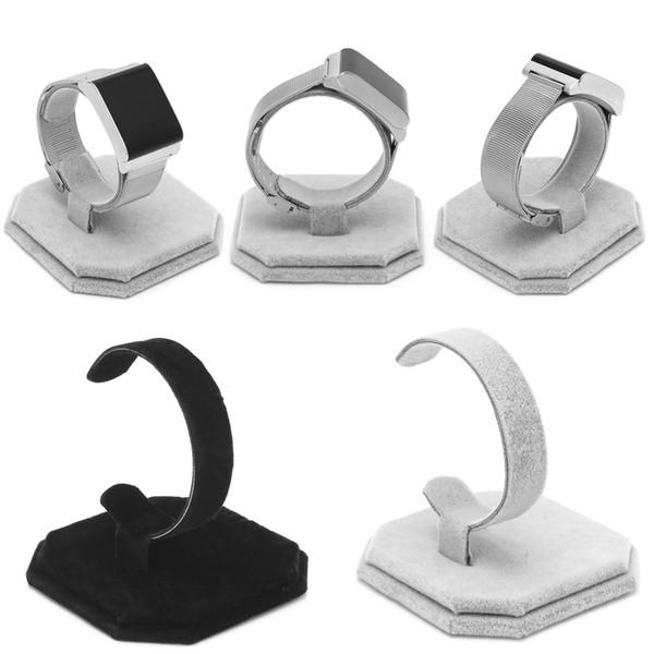 Velvet C Type Design Bijoux Bracelet Montre Présentoir Support à nouveau