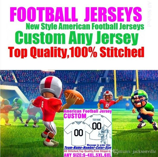 top popular Personalized american football jerseys Custom Minnesota Dallas college authentic cheap baseball basketball mens womens youth USA 4xl factory 2019