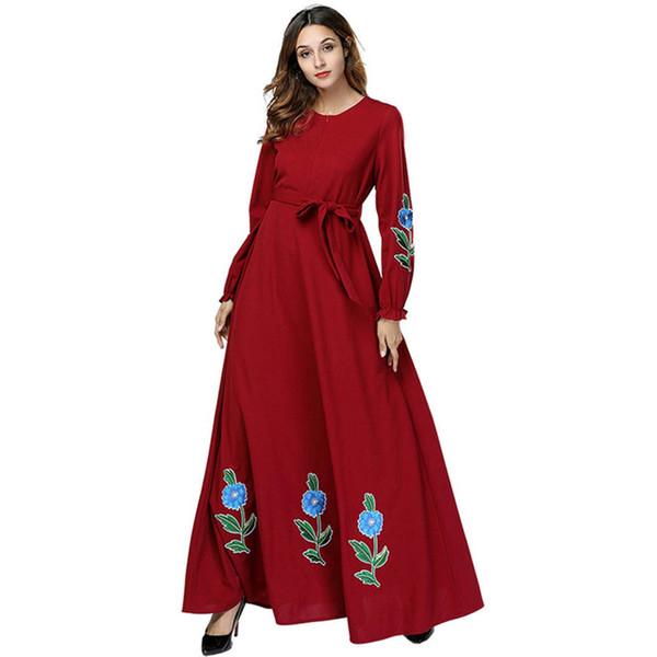 Frauen Vestidos 2018 Muslim Hijab Kleid Frauen Jilbab Kaftan Abaya Oman Katar UAE Robe Musulmane Longue Dubai Kleidung