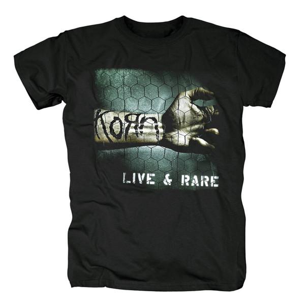 Ücretsiz kargo Yeni-Korn-Klasik Glow Kafatası Logo Siyah Twisted Tur ROCK Ağır metal tişört Asya Boyut