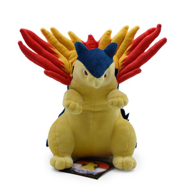 10 pouce Pokemon Cyndaquil En Peluche jouets Doux en peluche mignon Grab machine Poupée Pour Enfants anniversaire meilleur cadeau