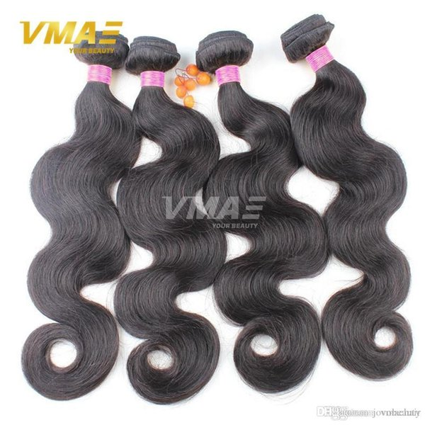 Brazilian Body Wave 3 Bundles Brazilian Virgin Hair Extensions Body Wave Natural Black Human Hair Weave Bundles VMAE Hair Products