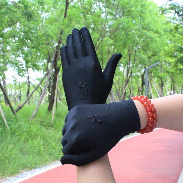1 Pair Summer Gloves Men/Women Short Paragraph Flower Thin Spandex Gloves/White Ceremonial /Jewelry/Dance Gloves Mix Colors