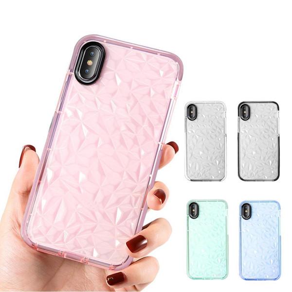 Per S10 Custodia in TPU per iPhone XS Max XR XS Custodia in TPU trasparente antiurto per iPhone 7 8 Plus Samsung S10 S0 Plus S10E Huawei P30 P30 Pro