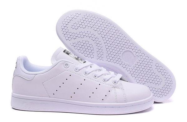 2018 Stan Smith весна Медь Белый Розовый Черный Мода Человек Повседневный кожа бренд женщина мужская обувь Flats кроссовки 36-44 c29