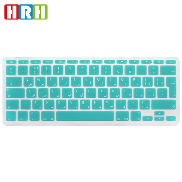 Arabic Silicone Waterproof Silicone Keyboard Covers Skins Protector For Macbook Air 11 A1370 A1465 EU Version