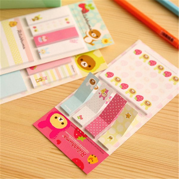 top popular Cartoon Rilakkuma Memo Notepad Note Book Memo Pads Sticky Notes Memo Set Gift Stationery Office Stationery Supplies 2020