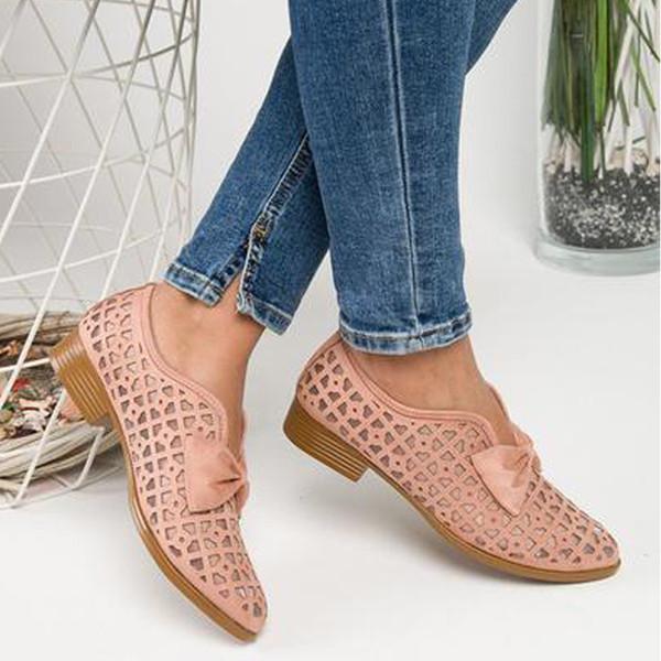Shujin 2019 Nouveau printemps Bowtie Les femmes Pointu Toe Pompes Chaussures Femme Plateforme Glissement Mocassins en cuir Feminino Zapatos De Mujer