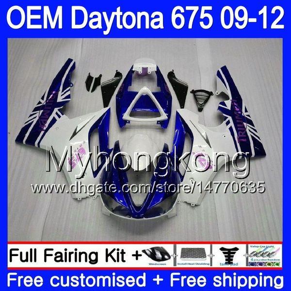 Injection For Triumph Daytona 675 09 10 11 12 Bodywork 323HM.2 Daytona-675 Daytona675 Daytona 675 Pearl White 2009 2010 2011 2012 Fairing