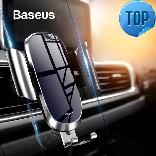 Car Phone Holder For Iphone Samsung Mobile Phone Holder Stand Metal Gravity Air Vent Mount Gps Cell Phone Holder In Car