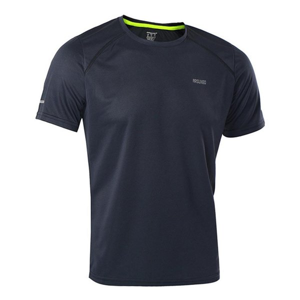 Männer Casual Solid O-Neck Kurzarm Casual, Laufbekleidung Slim Jersey T-Shirt Top Pullover Regular Summer