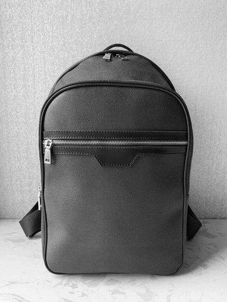 top popular 2020 Student Backpack Mens Female Backpack Hot Brand Double Shoulder Bags Male School Bags Leather Shoulder Bag Computer Bag 2020