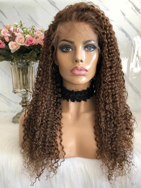 Full Lace Wig High Quality Burmese Virgin Human Hair Natural Color Lace Wigs Celebrity Wig Body Curl Front Lace Wig Free Shipping