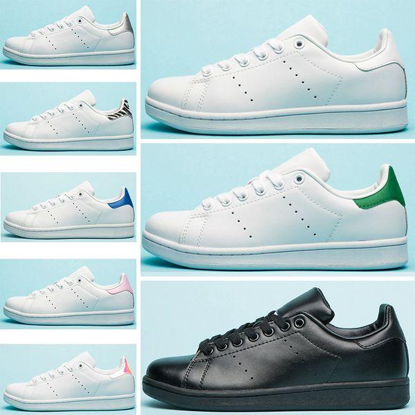 Luxury Designer Stripes Stan Flats Casual Shoes men women Triple White Black Zebra Green Red Navy Smith Mens Trainer Sports Sneakers 36-45