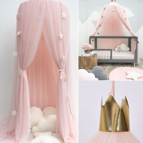 Summer Children Kid Bedding Mosquito Net Romantic Baby Girl Round Bed Mosquito Net Bed Cover Canopy For Kid Nursery D14