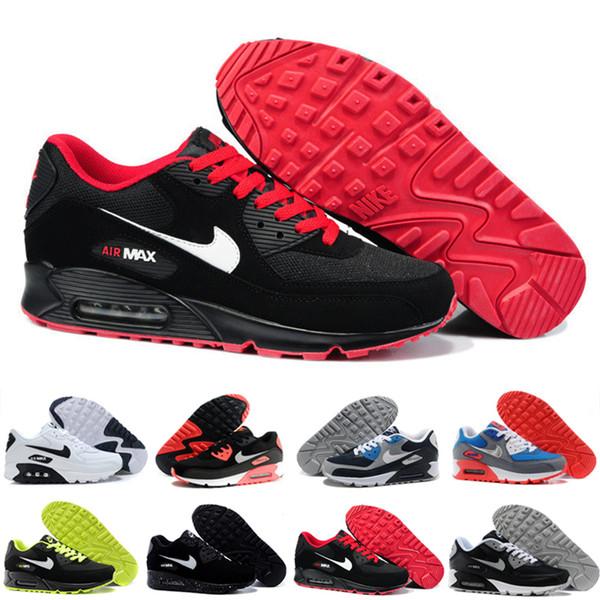 nike air max 90 90s airmax Coussin d'air de haute qualité Casual chaussures de course pas cher noir blanc rouge hommes femmes baskets classique Air90 Trainer chaussures de sport