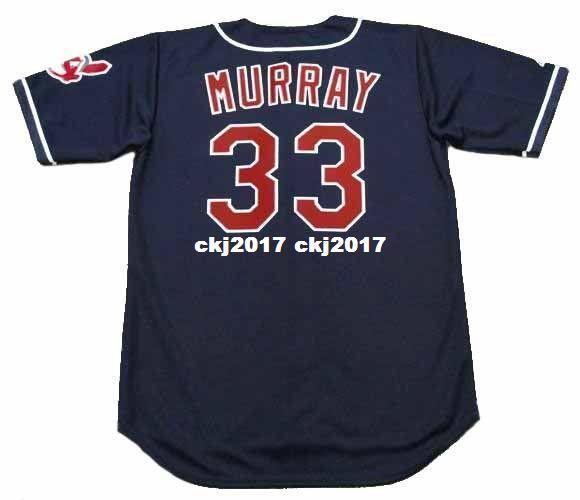 Cheap Custom EDDIE MURRAY Cleveland Stitched 1995 Majestic Vintage Alternate Baseball Jersey Retro Mens Jerseys Running