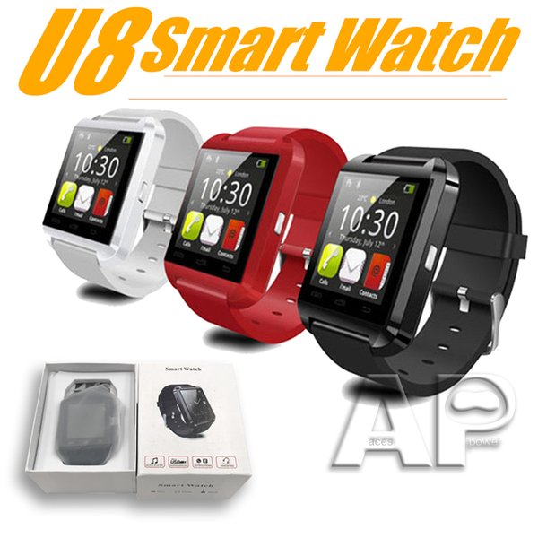 Smart Watch U8 U Watch Smart Watches For iOS Apple Smartwatch iPhone Samsung Sony Huawei Android Phones with retail package