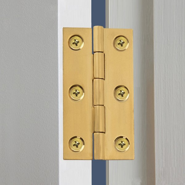 "best selling Solid Brass Cabinet Door Hinges Gold Kitchen Cupboard Door Furniture Folding Butt Hinges 2"" 2.5"" 3"" Wholesale Price"