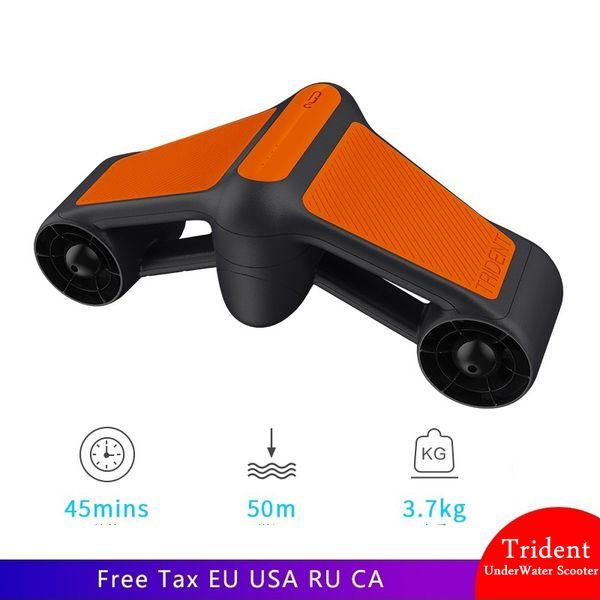 Yeni Trident Su Geçirmez Sualtı Scooter Elektrikli pervane Scooter Iki Hız Pervane Dalış Havuzu el Dalış ekipmanları